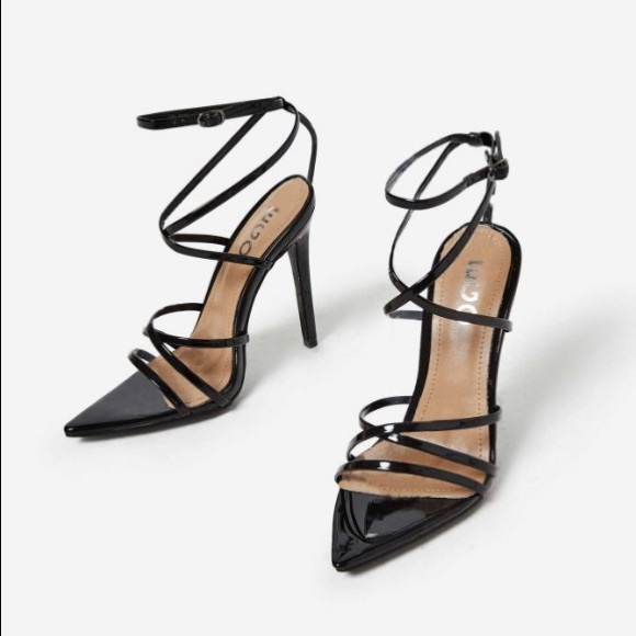 8b984c5bf2e Kaia Pointed Barely There Heel In Black Patent